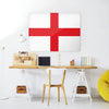 England Flag Design Magnetic Board in a workspace setting