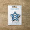 Star design fridge magnet in blue colour variation by Beyond the Fridge
