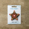 Star design fridge magnet in red colour variation by Beyond the Fridge
