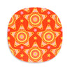 Orange star placemat