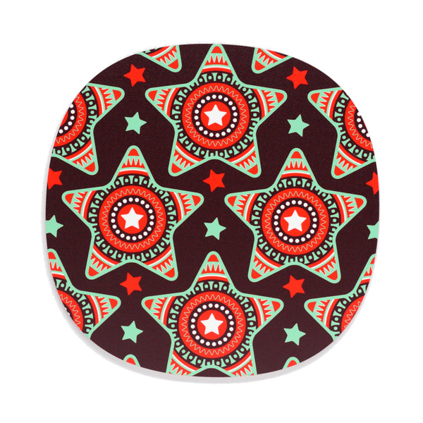 Maroon star design Christmas placemat