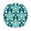 Teal star design Christmas placemat