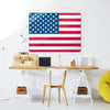American Flag Design Magnetic Board in a workspace setting