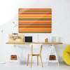 Stripes Pumpkin Design Magnetic Notice Board in a workspace setting