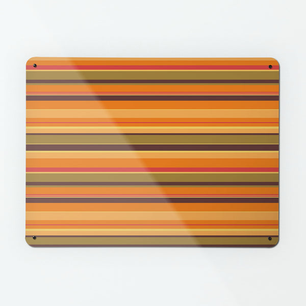 Stripes Pumpkin Magnetic Board