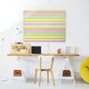 Stripes Candy Design MagneticNotice Board in a workspace setting