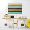 Stripes Liquorice Design Magnetic Notice Board in a workspace setting