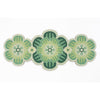 Flower shaped Centrepiece Table Mat with a succulent design in Bright Green colour way by Beyond the Fridge