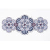 Flower shaped Centrepiece Table Mat with a succulent design in Dusky Mauve colour way by Beyond the Fridge