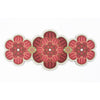 Flower shaped Centrepiece Table Mat with a succulent design in Maroon colour way by Beyond the Fridge