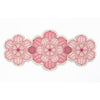 Flower shaped Centrepiece Table Mat with a succulent design in Pink colour way by Beyond the Fridge