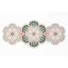 Flower shaped Centrepiece Table Mat with a succulent design in Subtle Green colour way by Beyond the Fridge