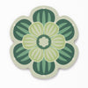 Flower shaped coaster with a succulent design in Bright Green colour way by Beyond the Fridge