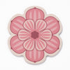 Flower shaped coaster with a succulent design in Pink colour way by Beyond the Fridge