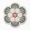 Flower shaped coaster with a succulent design in Subtle Green colour way by Beyond the Fridge