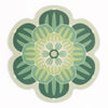 Bright Green Succulent Design Placemat