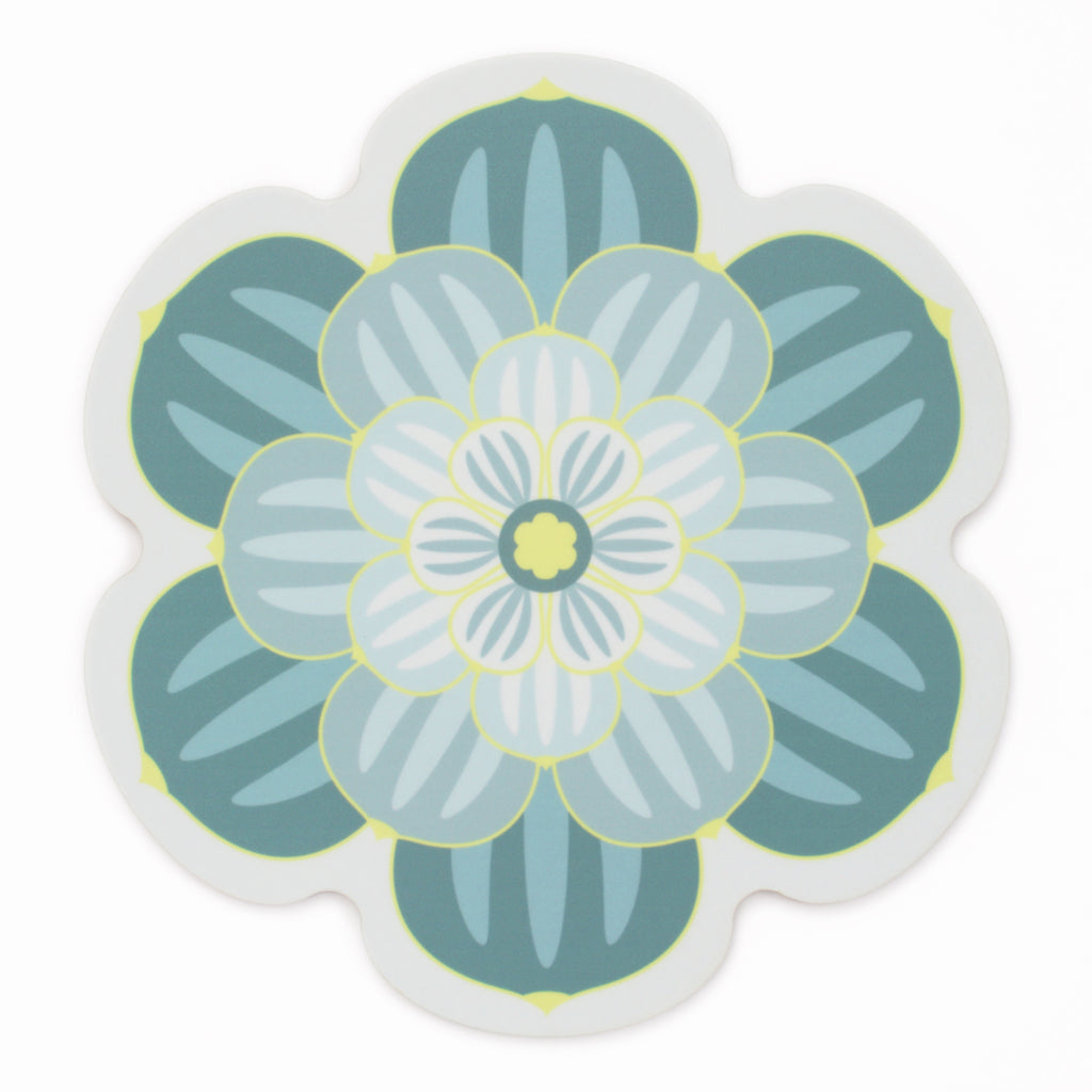 Teal Succulent Design Placemat