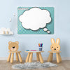 Cartoon Thought Bubble Large Dry Erase Design Magnetic Board in a playroom setting