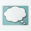 Cartoon Thought Bubble Magnetic Notice Board - Blue and Yellow