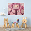 Tree Hoses Pink Design Magnetic Board in a playroom setting