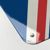 Union Jack design magnetic memo board corner detail