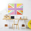 Union Jack Multi Design Magnetic Board in a workspace setting