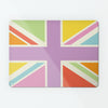 Union Jack British Flag large magnetic notice board in multi colours