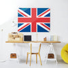 Union Jack Design Magnetic Board in a workspace setting