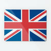 Union Jack British Flag large magnetic notice board - red white and blue