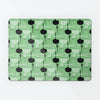 Utensils Green repeat pattern magnetic notice board