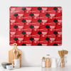 Utensils Repeat Pattern Red Design Magnetic Board in a kitchen setting
