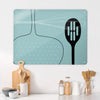 Utensils Blue Design Magnetic Board in a kitchen setting