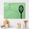 Utensils Green Design Magnetic Board in a kitchen setting
