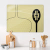 Utensils Light Olive Design Magnetic Board in a kitchen setting