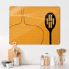 Utensils Orange Design Magnetic Board in a kitchen setting