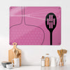 Utensils Pink Design Magnetic Board in a kitchen setting