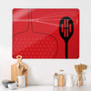 Utensils Red Design Magnetic Board in a kitchen setting