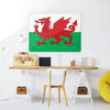 Welsh Flag Design Magnetic Board in a workspace setting