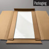 Plain white magnetic dry erase board in packaging