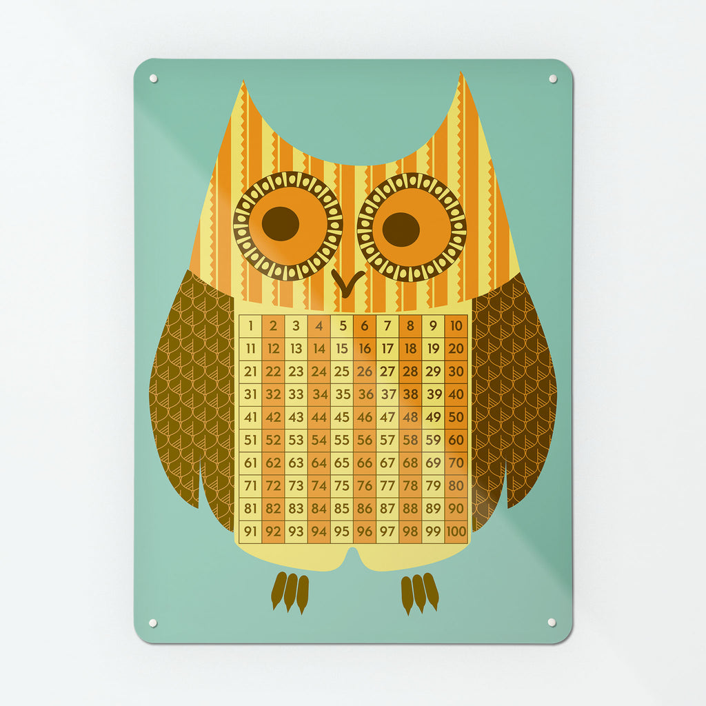 Wise Owl Number Square Magnetic Board for Kid's