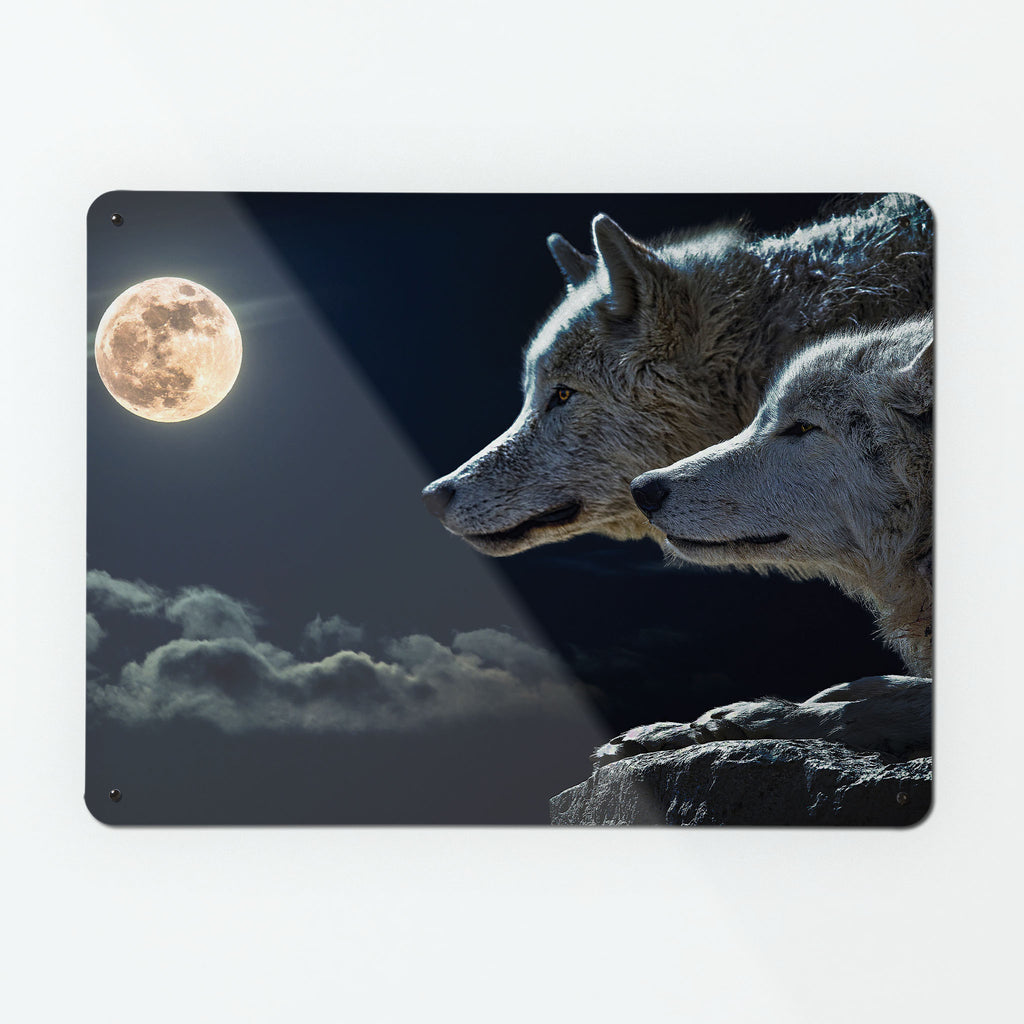 Wolves under the Moon Magnetic Notice Board