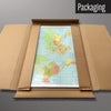 World Map magnetic board in packaging