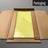 Plain yellow magnetic dry erase board in packaging