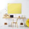 Plain Yellow Magnetic Board in a workspace setting