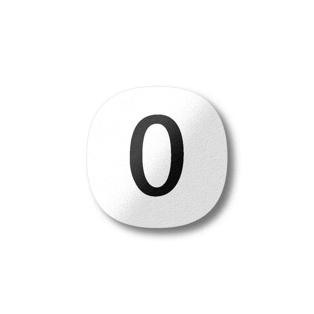 Zero Number Fridge Magnet by Beyond the Fridge