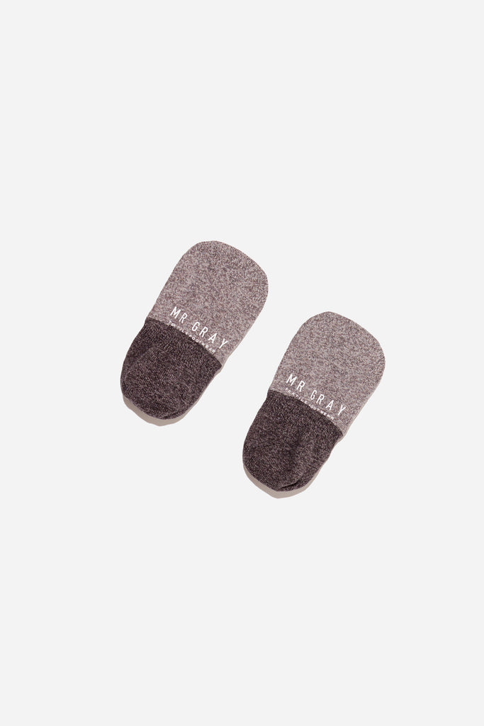 2 Tone Melange Invisible Sock | Charcoal