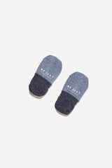 2 Tone Melange Invisible Sock | Blue