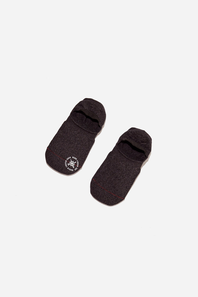 Basic Melange Invisible Sock | Black | Mr. Gray