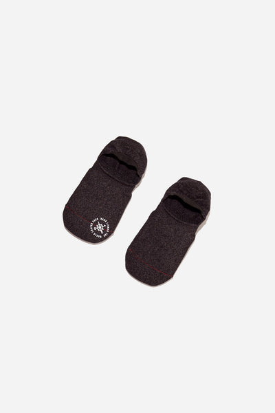 Basic Melange Invisible Sock | Black