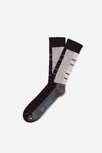 Notch Print Panel Sock | Black